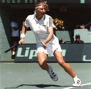 Steffi Graf had enough speed to be a European Champion in the 1,500. instead she was the number 1 tennis player in the world for 377 weeks.