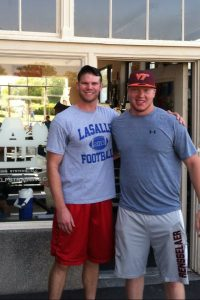 Wade and I before he left for Virginia Tech